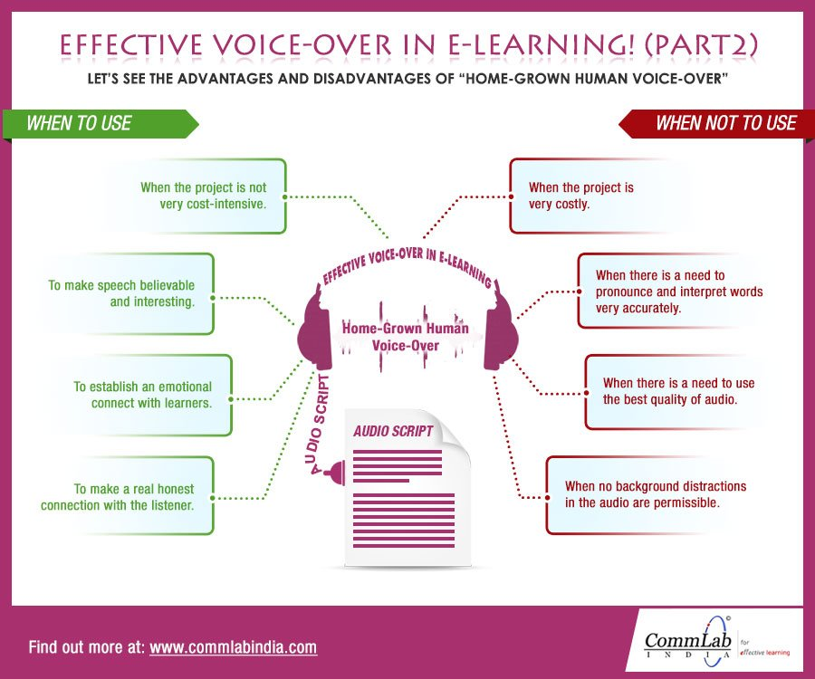 Effective Voice Over in eLearning (Part 2) – An Info Graphic
