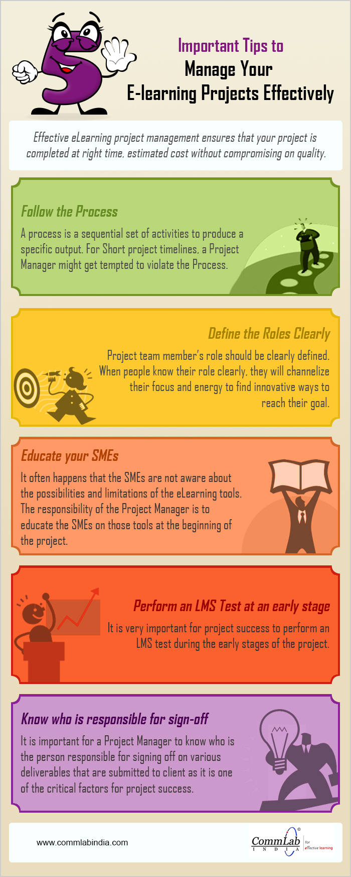 Important Tips to Manage Your E-learning Projects Effectively – An Infographic