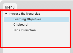 How to Increase Menu Size of an E-Learning Course for Ipad in Articulate Storyline?