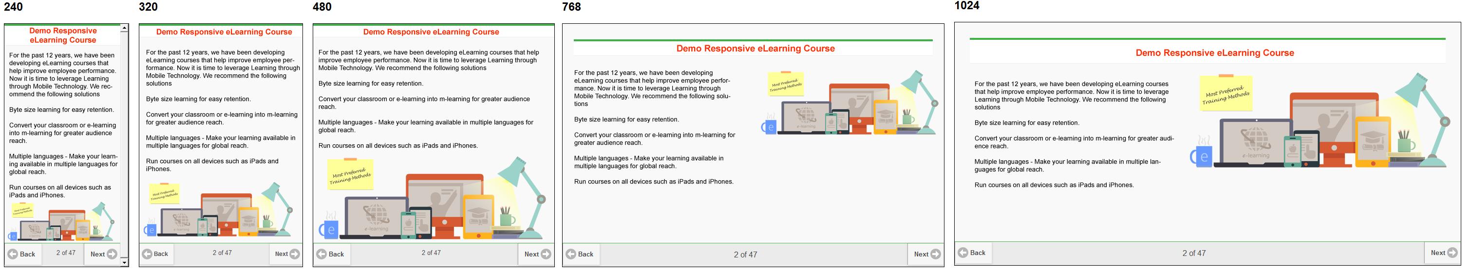 Responsive course