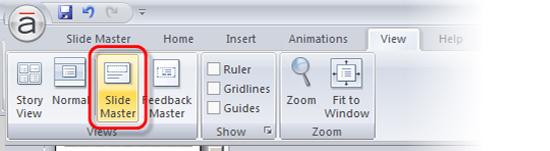 Select Slide Master