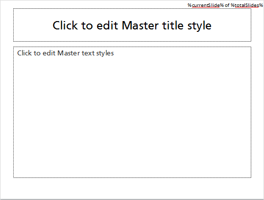 Type the text in the master slide