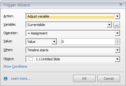 Adjust the variable of current slide