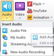 Audio editor and audio recording tool