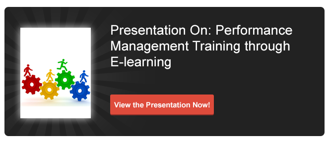 E-learning for Performance Management Training