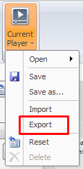 Export and import the designed template