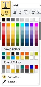 Improved color pallette