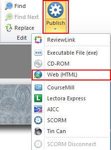 "Select ""Publish"" tab"