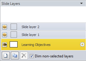 Slide layers