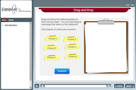 Used quizzing section to build interactive assessments