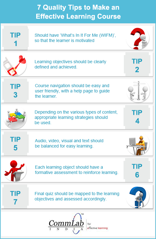 7 Quality Tips to Make an Effective E-learning Course – An Infographic