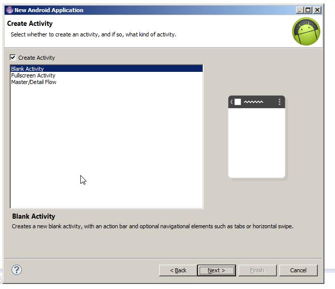 Activity Type Creation Screen