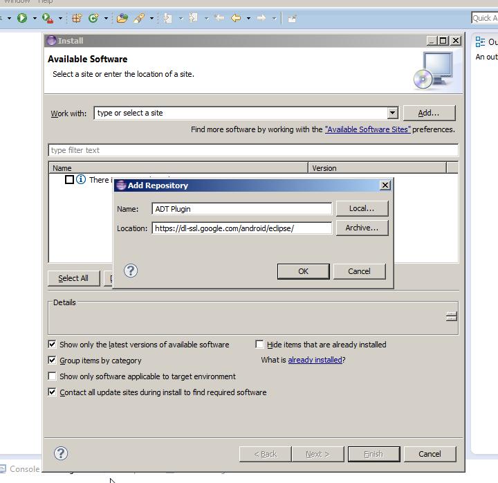 Adding ADT Plugin Screen