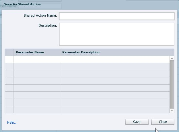 Enhancements Shared actions