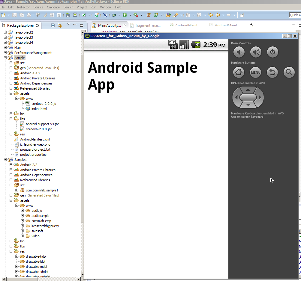 Output On Simulator Screen