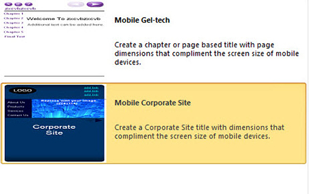 Ready to use Tablet and Mobile Templates