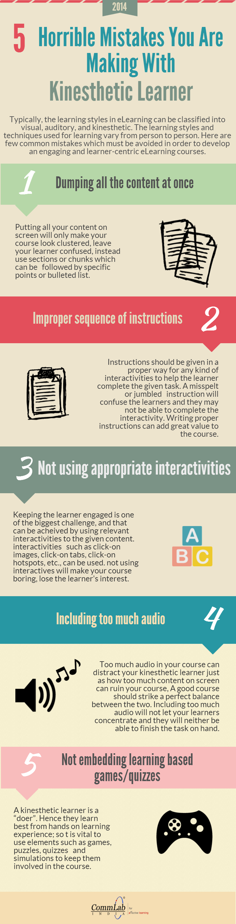 E-learning  Mistakes You Are Making With Kinesthetic Learner – An Infographic