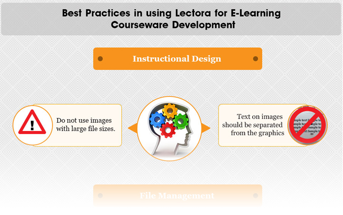 Best Practices in Using Lectora for E-learning Courseware Development – An Infographic