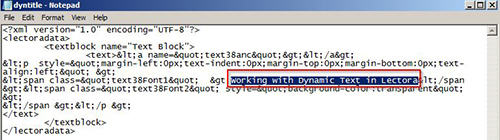 Make changes the changes and save dyntitle.xml file
