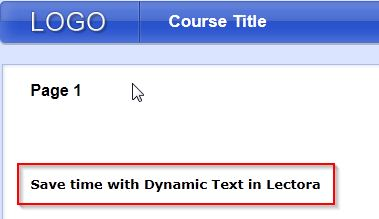"""Course text after changing """"dyntitle""""xml file"""