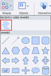 Recently Used Shape