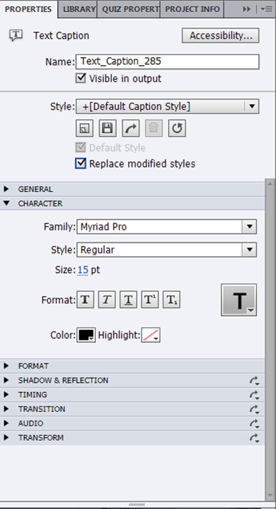 Replace modified styles