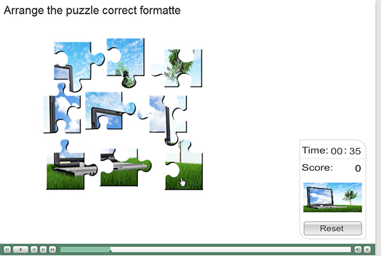 Arrange the puzzle in correct format