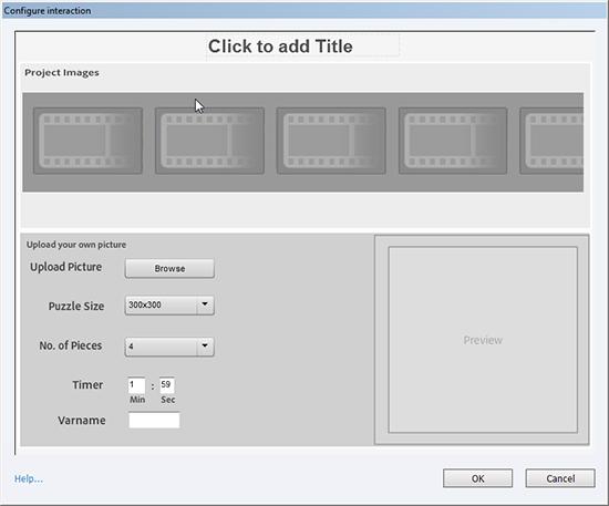 Configure interaction window
