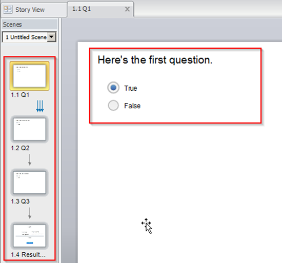 Create a quiz in Storyline