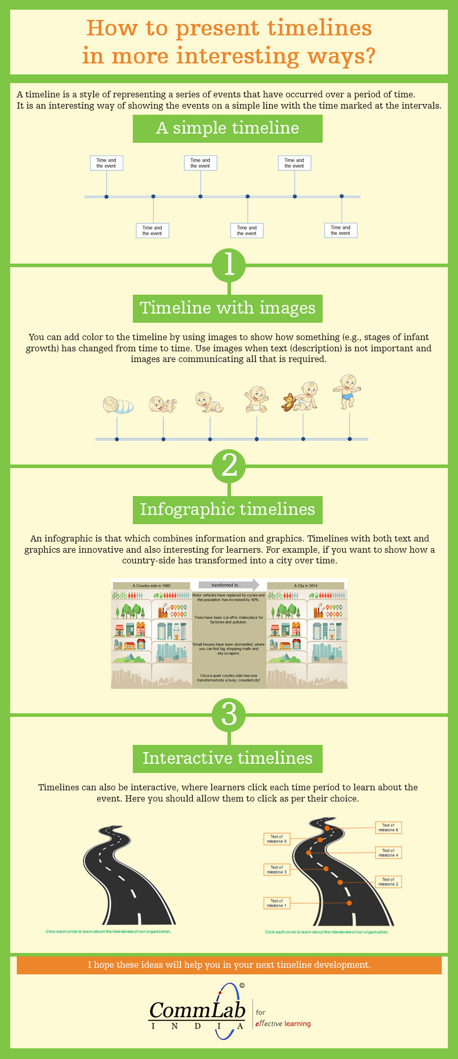 3 Brilliant Ways to Present Timelines [Infographic]