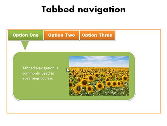 tabbed navigation