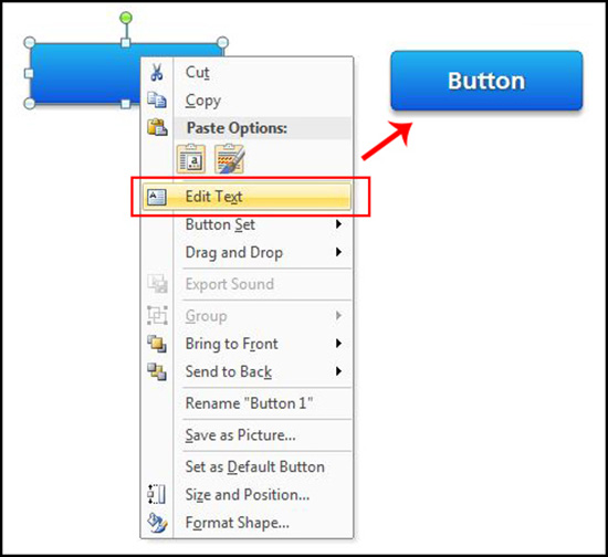 Actions to control buttons