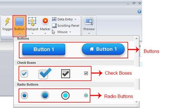 Adding text to buttons