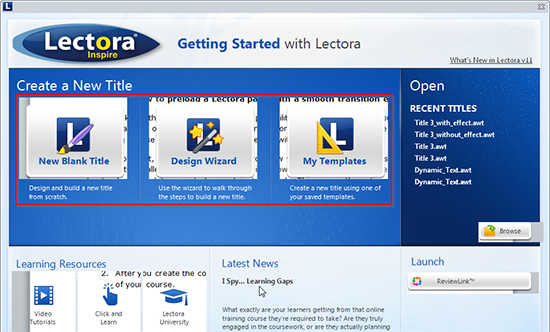 Create an eLearning course in Lectora