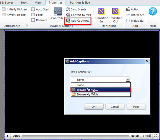 Import an xml file to lectora