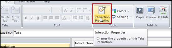 Interaction Properties