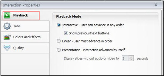 Playback Mode Settings