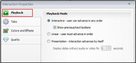 Playback Mode Settings