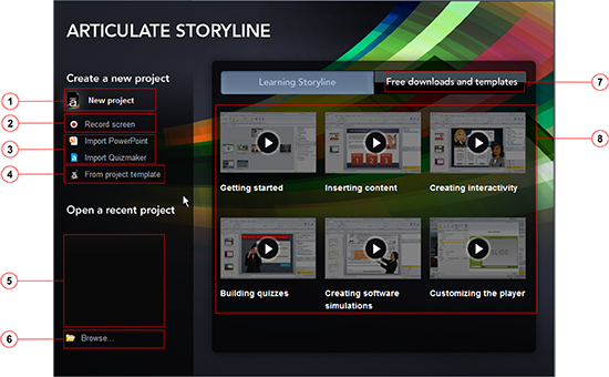 Storyline Welcome Screen