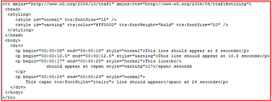 Syntax for xml-code