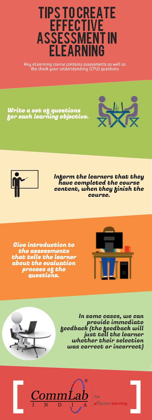 Tips to Create Effective Assessments for your E-learning Course – An Infographic