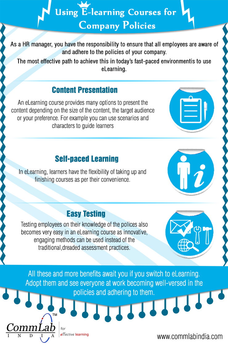 E-learning to Ensure Adherence to your Company's Policies – An Infographic