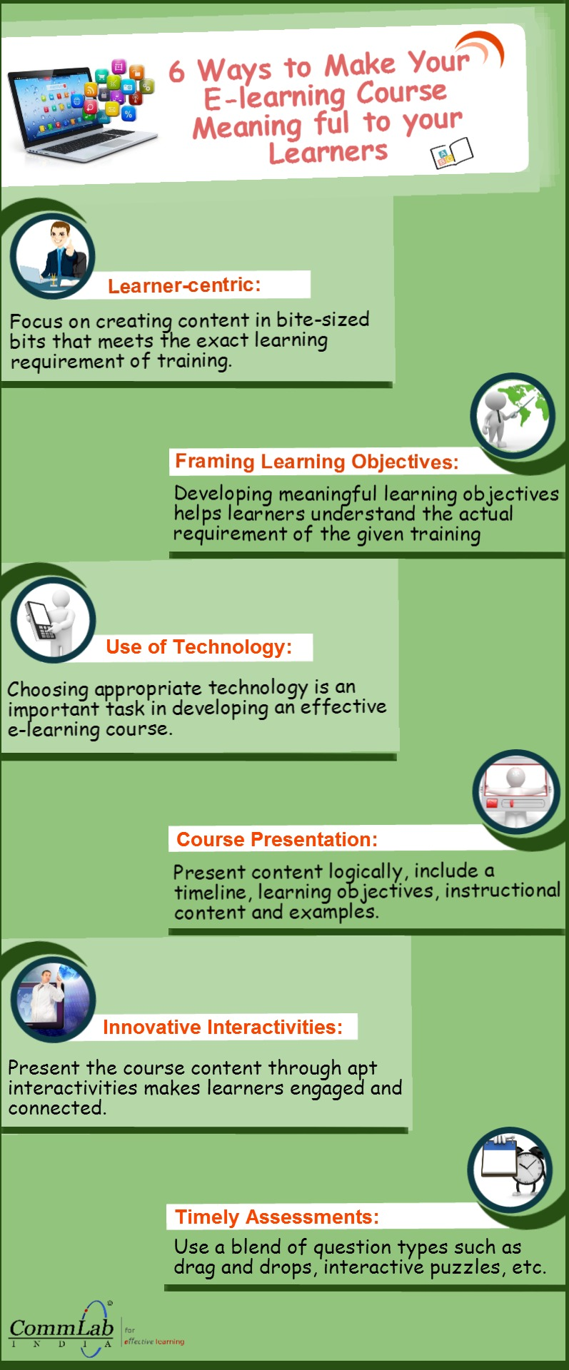 6 Ways to Make your E-learning Course Meaningful – An Infographic