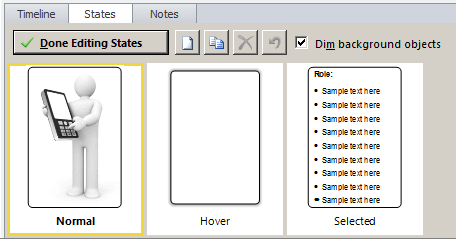 Add text in selected state