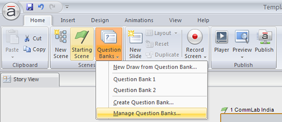 Click on question bank