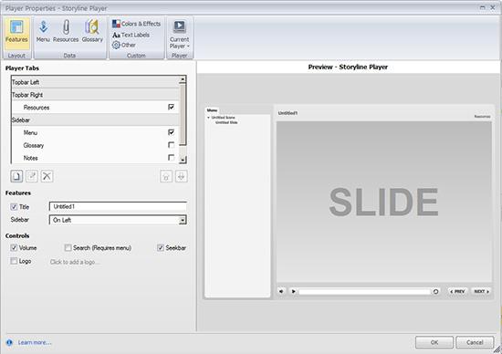 Player Properties Window