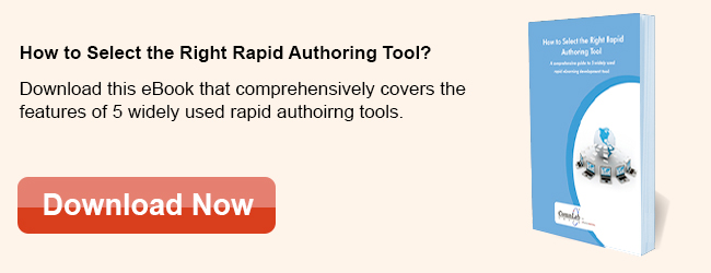 View eBook on How to Select The Right Rapid Authoring Tool?