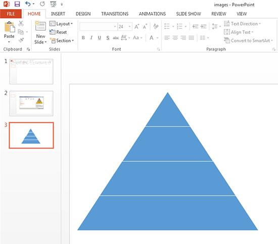 Create a Pyramid Shape Object