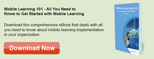 View eBook on M-learning 101 – All You Need to Know to Get Started with Mobile Learning Design and Development