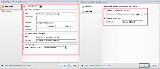 The player settings and LMS setting